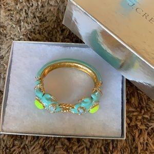 J crew turquoise frog bracelet
